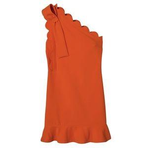 Orange Scallop Dress